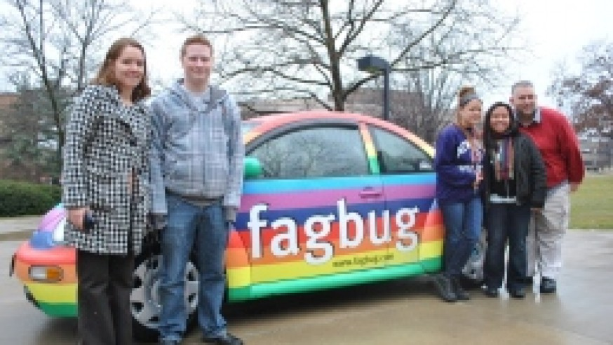 Fagbug parks on campus
