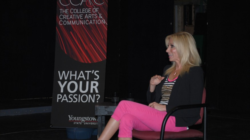 Channeling fame: Music artist shares experience with YSU students