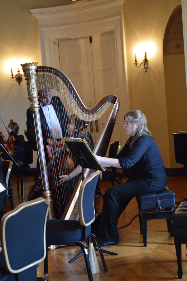 Sunday, the Youngstown State University Dana Chamber Orchestra performed a concert at Stambaugh Auditorium in the Christman room. Photo by Kara Pappas/ The Jambar.