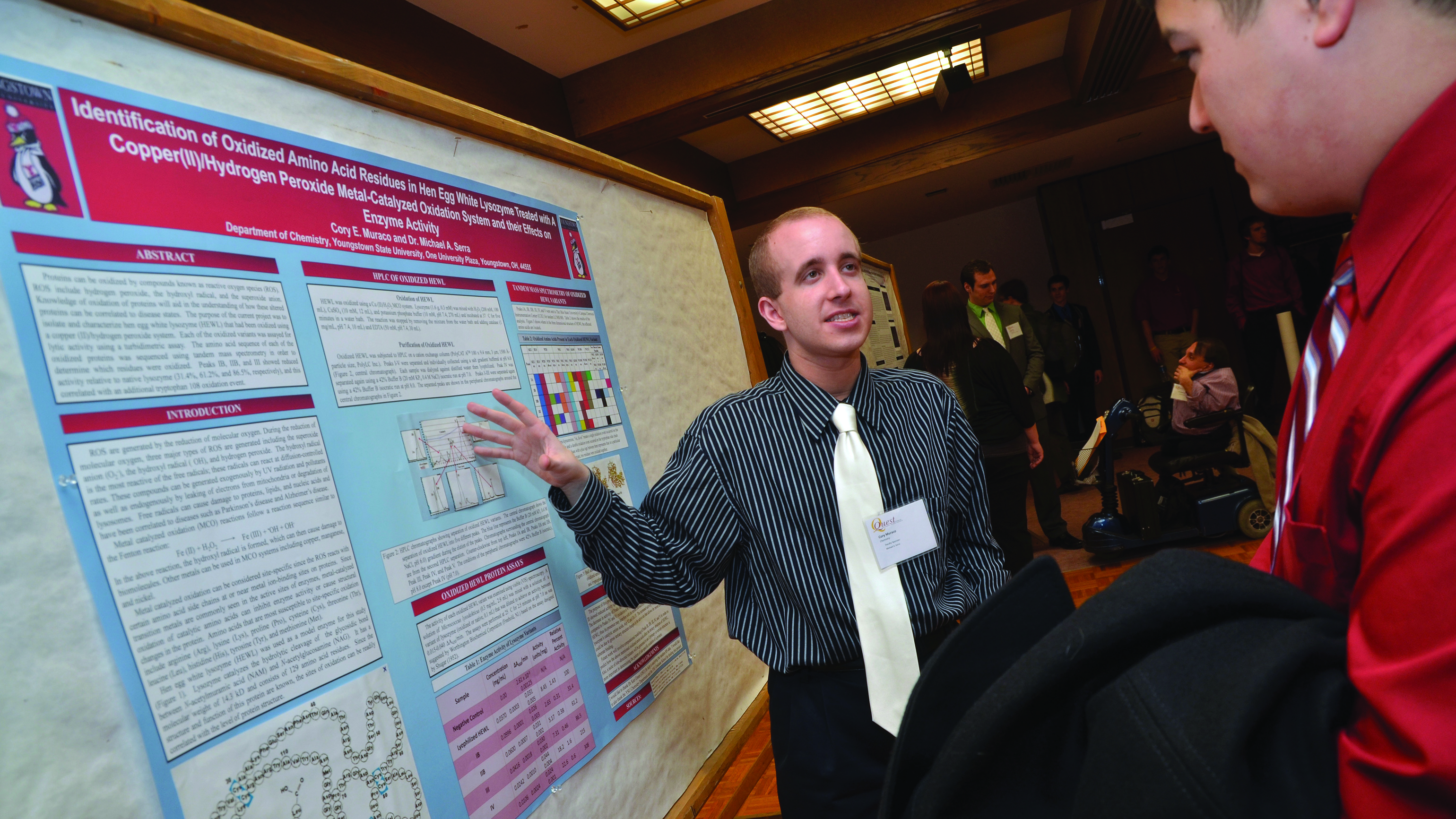 A student presents his research project at last year's QUEST. The 25th annual student research competition will be held this Thursday.