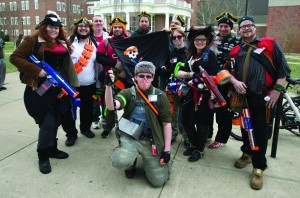 Youngstown State University Humans versus Zombies players (above) went down to Ohio University to participate in an invitational. This weekend, YSU's Urban Gaming Club will host its own invitational here at YSU.