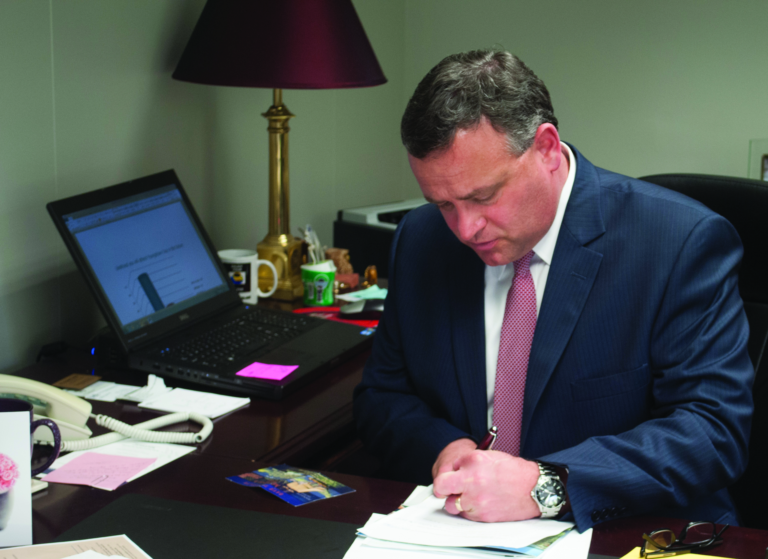 Scott Evans (above), YSU vice president of University Development, is departing for Lake Erie College on May 20, where he will act as senior vice president for Institutional Advancement and chief of President's Staff.