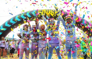 The Color Run doesn't rank runners by place or time, but encourages all participants to celebrate their happiness and individuality — all while covered in paint.