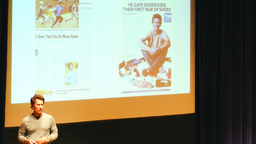 'Putting Shoes on Their Feet' Founder of TOMS speaks at Stambaugh