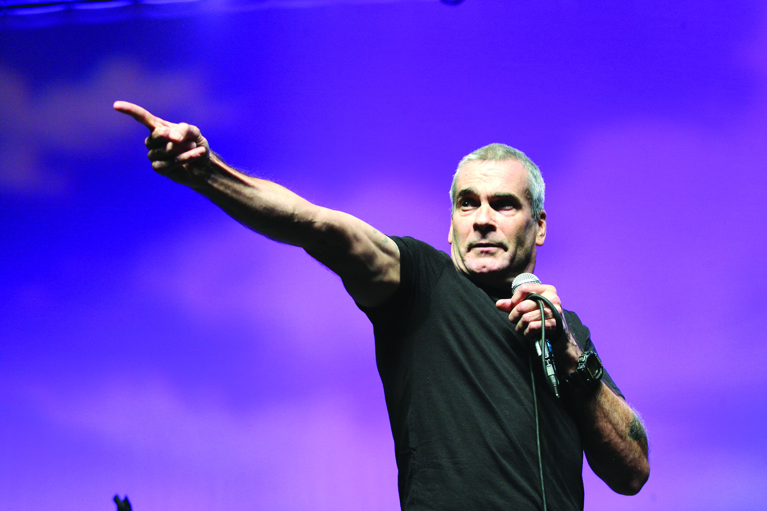 Writer and musician Henry Rollins was featured at Bonnaroo Music Festival in 2011. Photo courtesy of Melanie Levi/ Flickr.