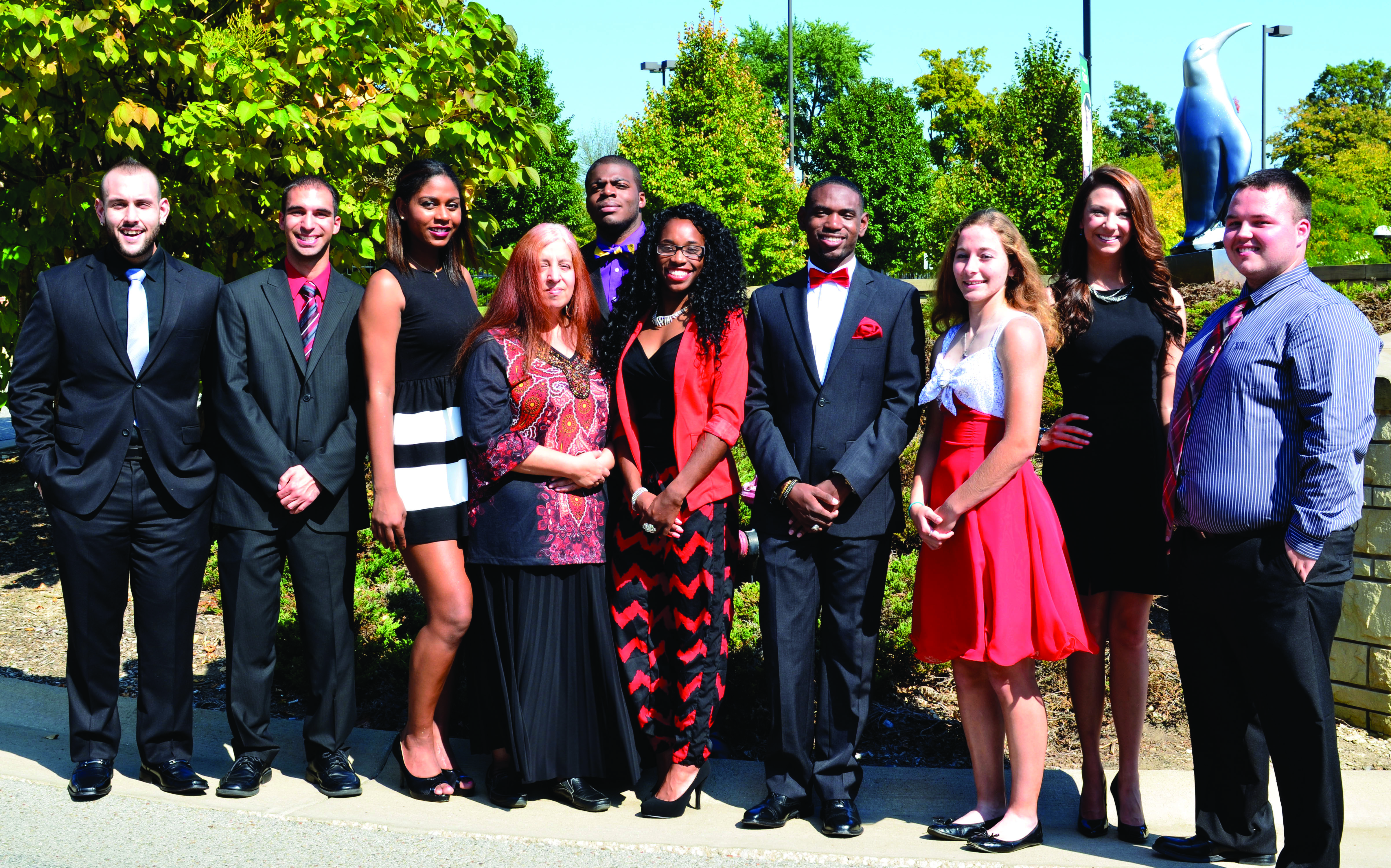 Pictured from left: Gino West, Scott Miller, Sydney Sims, Rebecca Banks, Everet Thompson, Alteeka Vanwright, Julian Jones, Ashley Smith, Paige Taylor, James MacGregor.