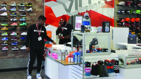 Beyond providing fashionable shoes and clothing, Villa on Belmont Avenue also promotes improvement in the city through fundraisers and volunteer projects. Photo by Ashley Smith/ The Jambar.