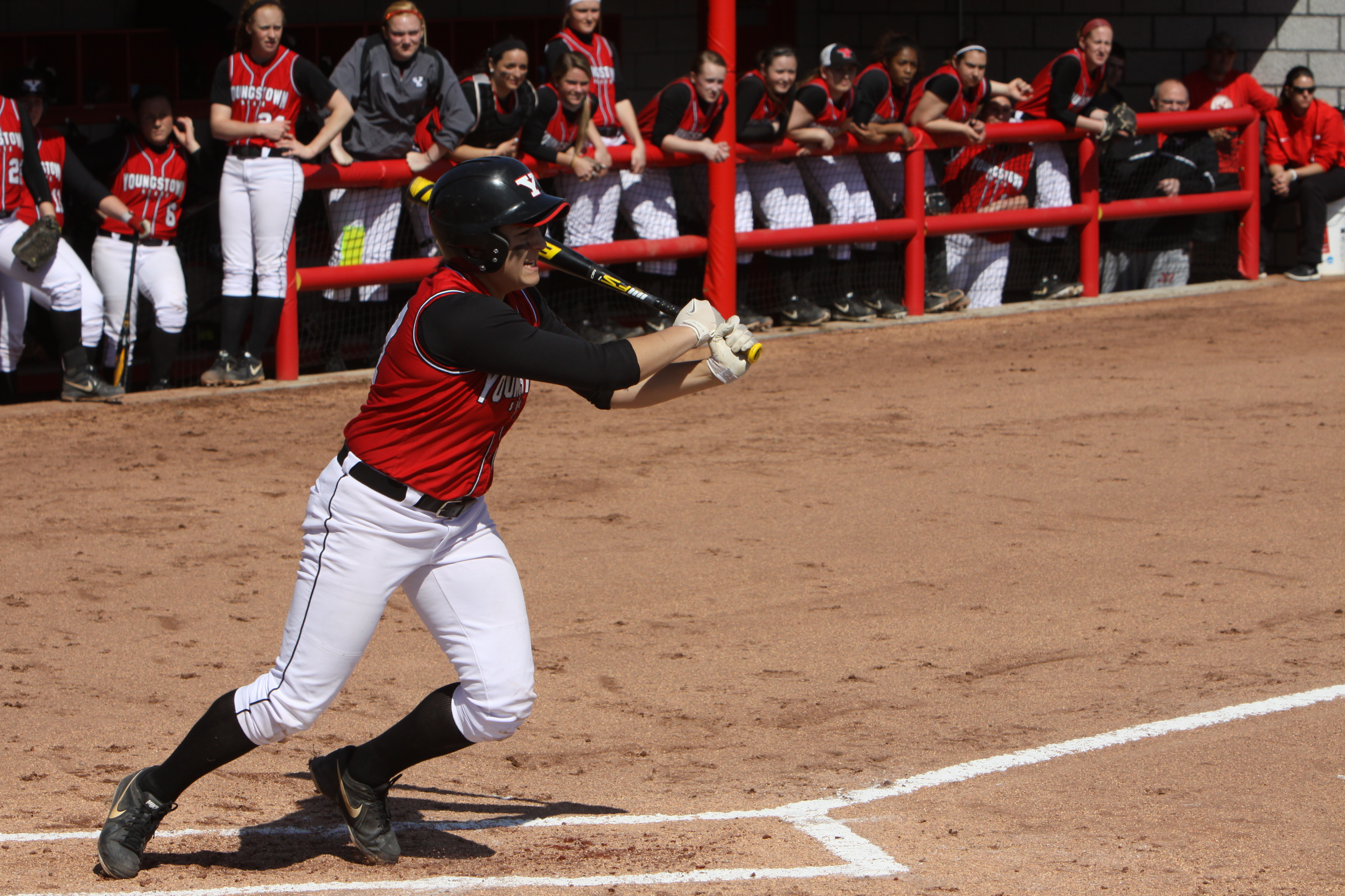 Junior infielder Miranda Castiglione was named the Horizon League Player of the Year last season. Castiglione led the softball team with a .395 batting average. Her average was sixth in YSU's single season list. Photo courtesy of YSU Sports Information.