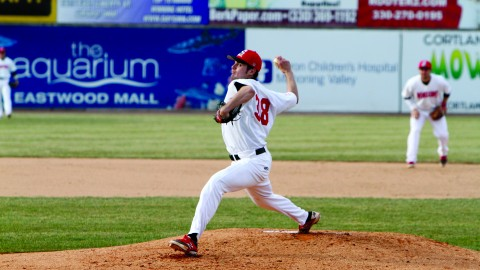 Anthony Konders came in relief in the sixth inning. The combination of Konders, Joe King and Josh Fitch held Pittsburgh to two hits during the final four innings of the Penguins' 8-4 loss. Photo courtesy of YSU Sports Information.