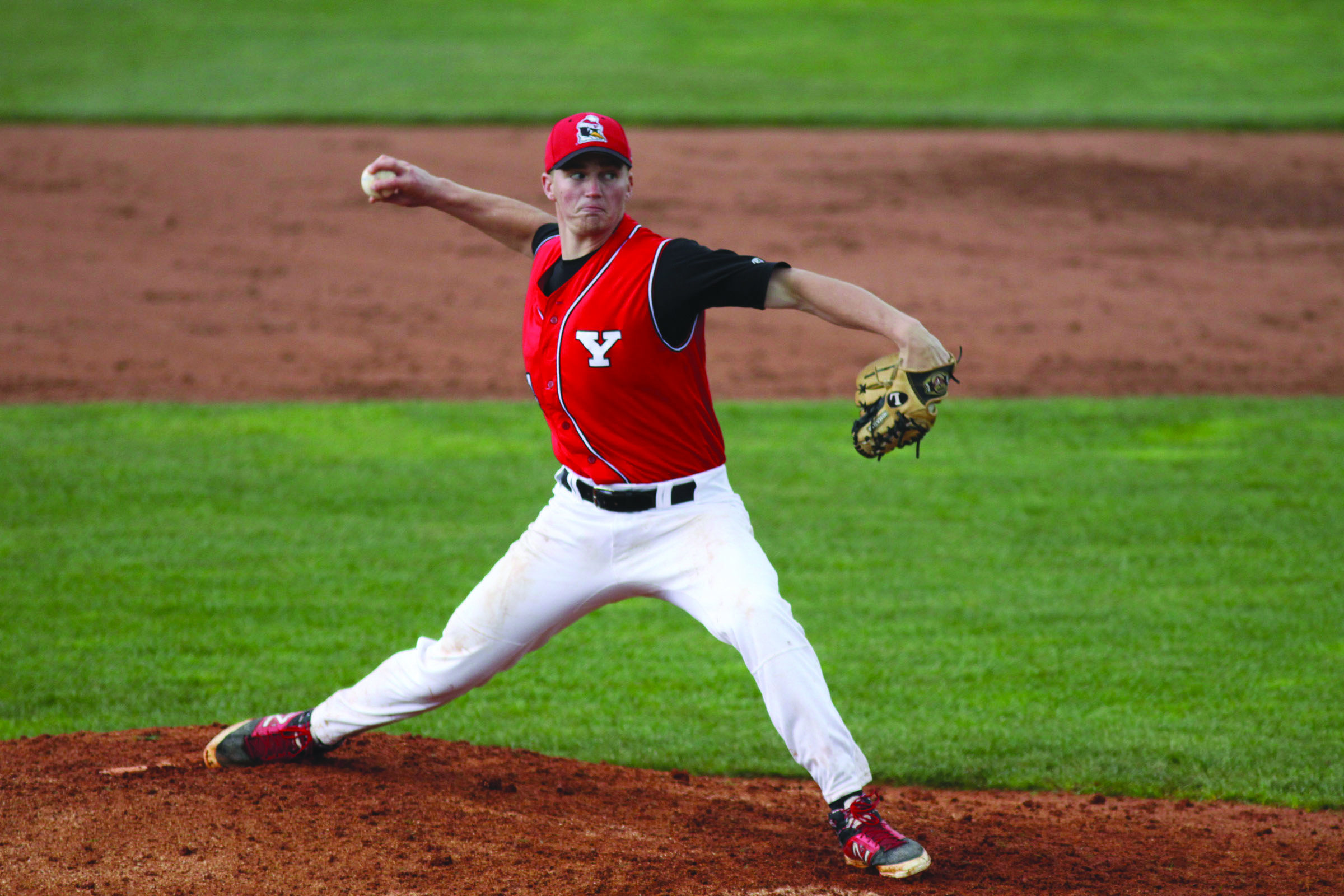 Pitcher Kevin Yarabinec has a 2-1 record with a 4.70 ERA. Yarabinec leads the team with 11 strikeouts and led the Penguins to a 5-3 win against the University of Milwaukee on March 15. Photo courtesy of Ron Stevens.