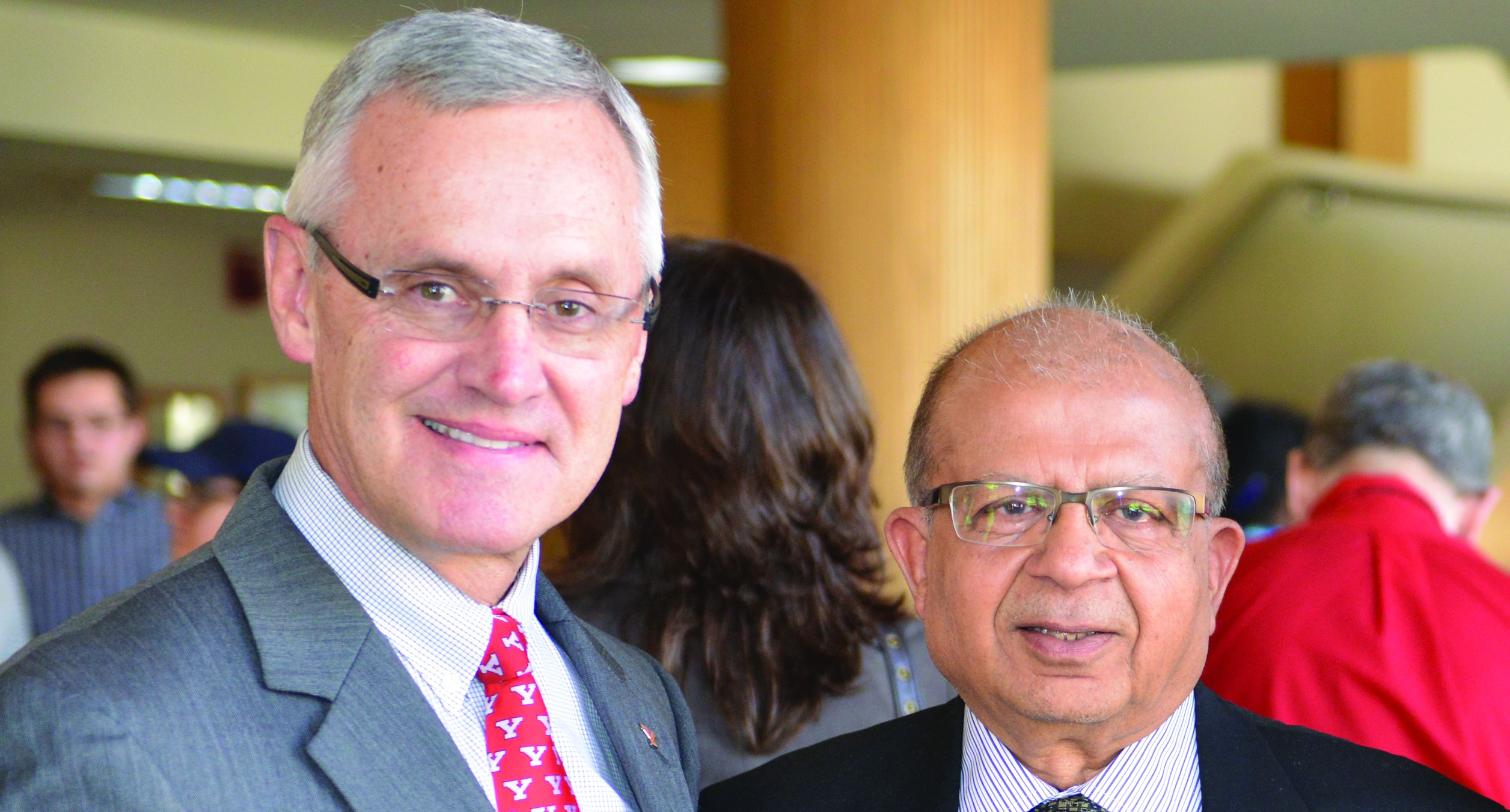 Former chair of the Board of Trustees, Sudershan Garg, will be retiring at the end of April. Photo courtesy of Ron Cole.