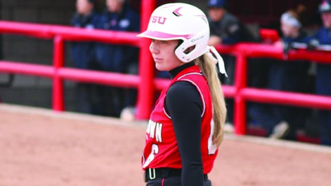 The Youngstown State University softball team finished the 2014 season with a 2-1 record against Cleveland State University, including a first round win during the Horizon League tournament. Photo courtesy of YSU Sports Information.