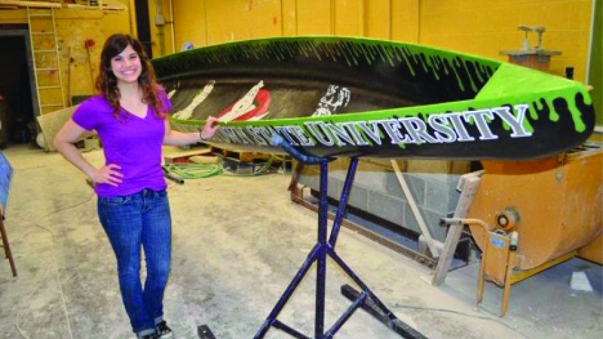 Concrete Canoe Paddles to Second Place Win