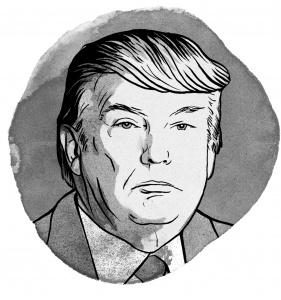 300 dpi Michael Hogue illustration of Donald Trump. (The Dallas Morning News/TNS)