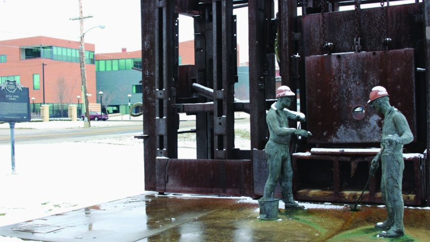 Zona Reflects on Museum of Labor Sculpture