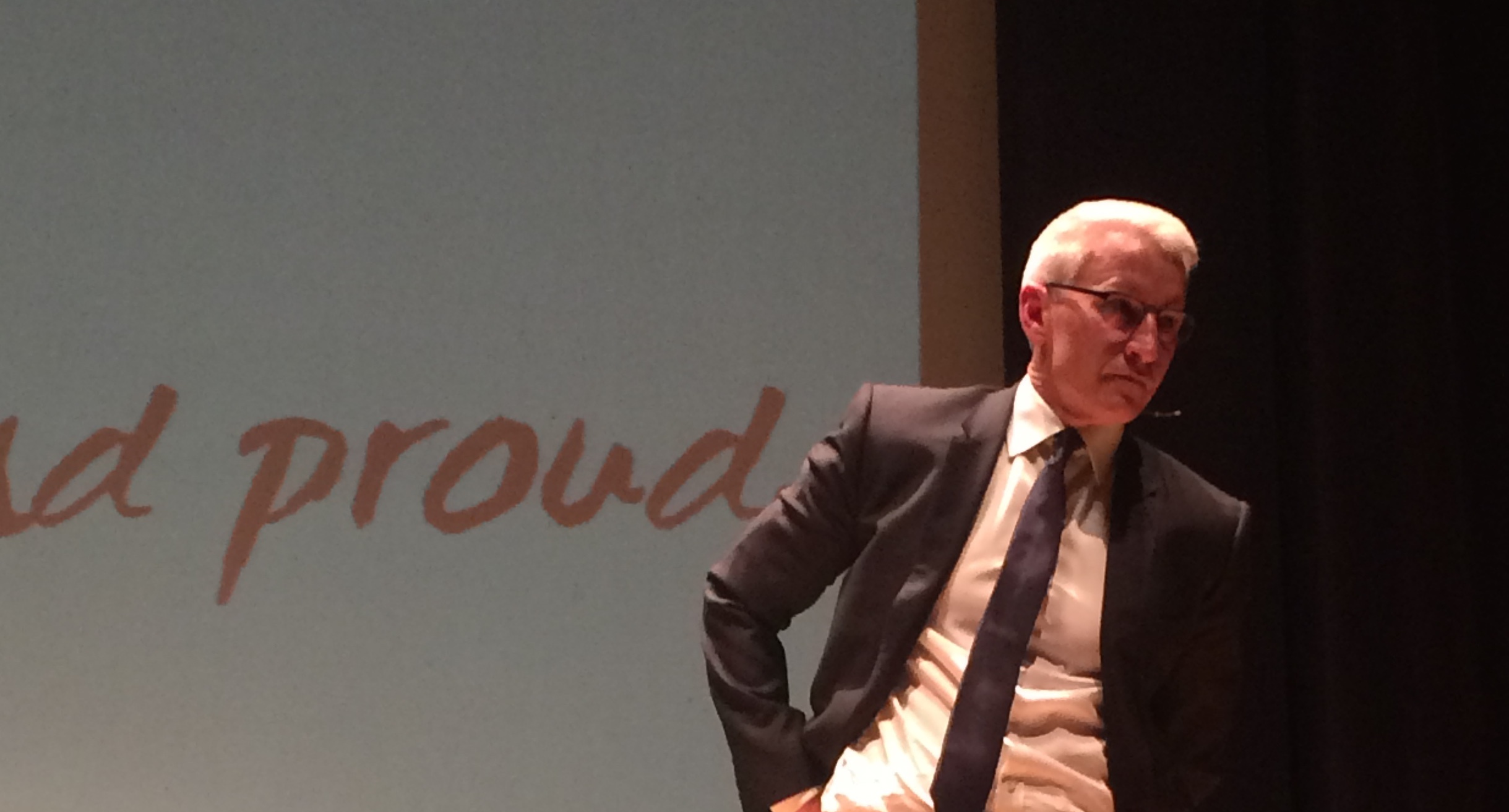 Anderson Cooper at the Skeggs lecture. Photo by Gabby Fellows/ The Jambar.