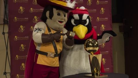 The NBA Championship Trophy Comes to YSU
