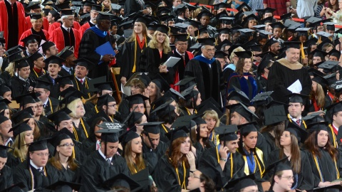 Walking the Walk: Students Prepare for Fall Commencement