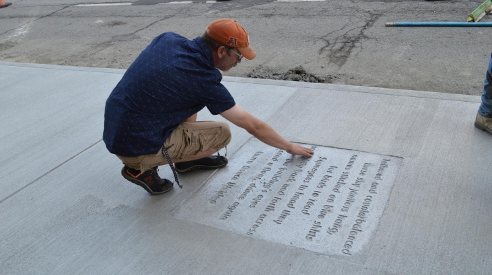 Poems Stamped into Sidewalks in Downtown Youngstown
