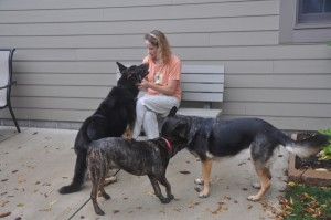 Youngstown State University Reading and Study Skills coordinator, Karen Becker, has a love for animals along with a passion for education. Photo Courtesy of Karen Becker.