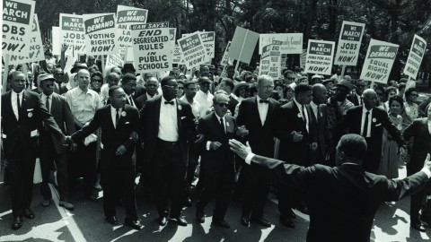 Photo of the Civil Rights March on Washington for Jobs and Freedom taken on Oct. 28,1963. Photo courtesy of the National Archives.