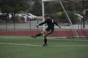 Elizabeth Balgoyen (4) has started in place on injured goalkeeper Katie Montgomery. Balgoyen recorded 18 saves in her four games played.