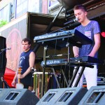 Jake Stephens (left) and Jake Capezzuto of Northern Whale perform on the first day of Fashion Meets Music Festival 2015 in Columbus.