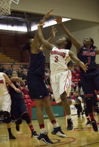 The Youngstown State University loss to Wright State University was the third consecutive game in which point guard Indiya Benjamin led the team in scoring.